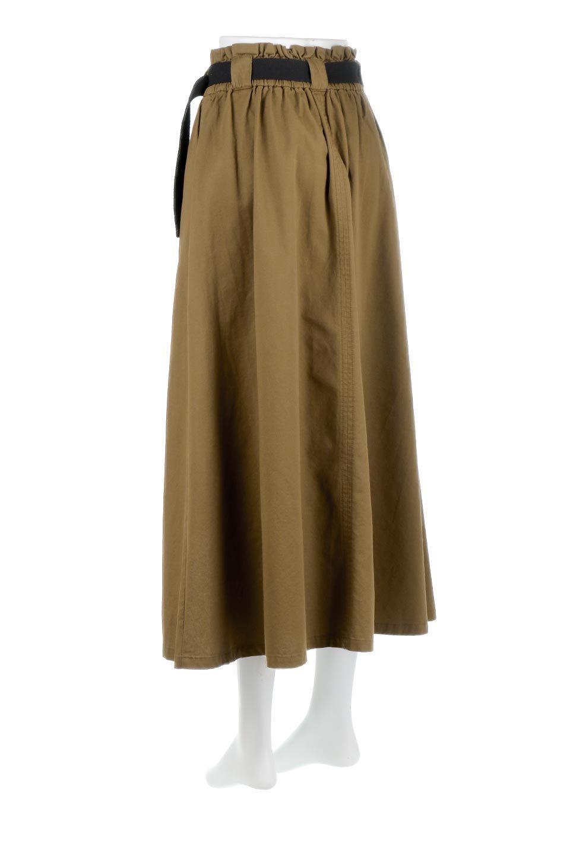 PaneledFlareSkirtw/WeavingBeltベルト付き・パネルフレアスカート大人カジュアルに最適な海外ファッションのothers(その他インポートアイテム)のボトムやスカート。フロントの切り替えがアクセントのボリューム感のあるフレアスカート。付属したウェービングベルトでラフでカジュアルな雰囲気です。/main-8