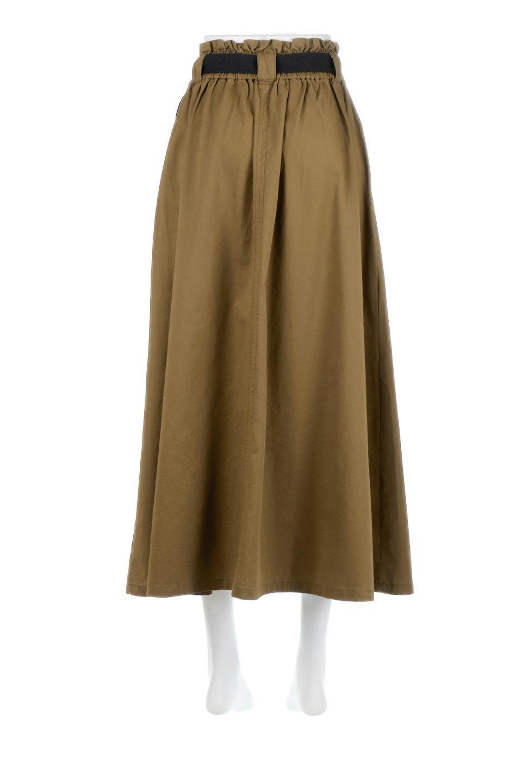PaneledFlareSkirtw/WeavingBeltベルト付き・パネルフレアスカート大人カジュアルに最適な海外ファッションのothers(その他インポートアイテム)のボトムやスカート。フロントの切り替えがアクセントのボリューム感のあるフレアスカート。付属したウェービングベルトでラフでカジュアルな雰囲気です。/main-9