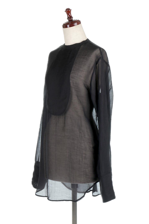 CottonPoplinBosomBlouseポプリン生地・ブザムブラウス大人カジュアルに最適な海外ファッションのothers(その他インポートアイテム)のトップスやシャツ・ブラウス。胸元の切り替えが特徴的な長袖のブザムブラウス。透け感が人気のポプリン素材を使用したのブラウスです。/main-11