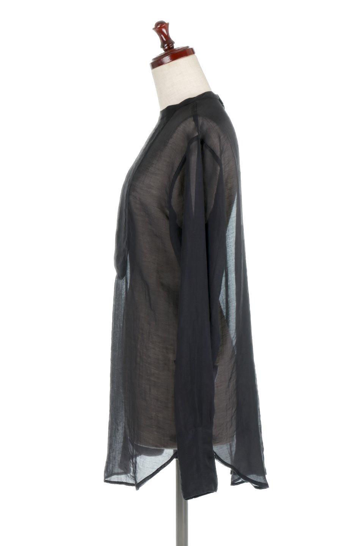CottonPoplinBosomBlouseポプリン生地・ブザムブラウス大人カジュアルに最適な海外ファッションのothers(その他インポートアイテム)のトップスやシャツ・ブラウス。胸元の切り替えが特徴的な長袖のブザムブラウス。透け感が人気のポプリン素材を使用したのブラウスです。/main-12