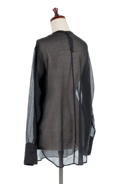 CottonPoplinBosomBlouseポプリン生地・ブザムブラウス大人カジュアルに最適な海外ファッションのothers(その他インポートアイテム)のトップスやシャツ・ブラウス。胸元の切り替えが特徴的な長袖のブザムブラウス。透け感が人気のポプリン素材を使用したのブラウスです。/main-13