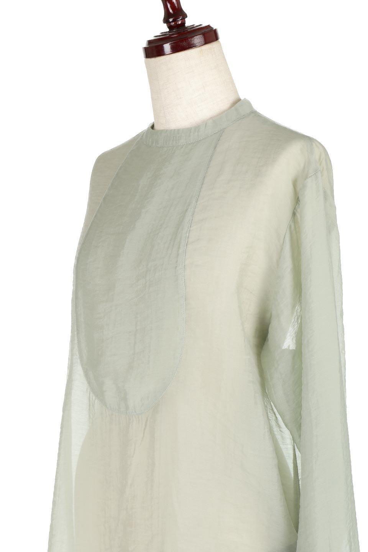 CottonPoplinBosomBlouseポプリン生地・ブザムブラウス大人カジュアルに最適な海外ファッションのothers(その他インポートアイテム)のトップスやシャツ・ブラウス。胸元の切り替えが特徴的な長袖のブザムブラウス。透け感が人気のポプリン素材を使用したのブラウスです。/main-15