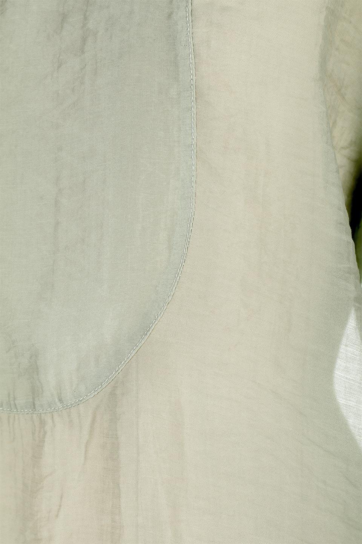 CottonPoplinBosomBlouseポプリン生地・ブザムブラウス大人カジュアルに最適な海外ファッションのothers(その他インポートアイテム)のトップスやシャツ・ブラウス。胸元の切り替えが特徴的な長袖のブザムブラウス。透け感が人気のポプリン素材を使用したのブラウスです。/main-17