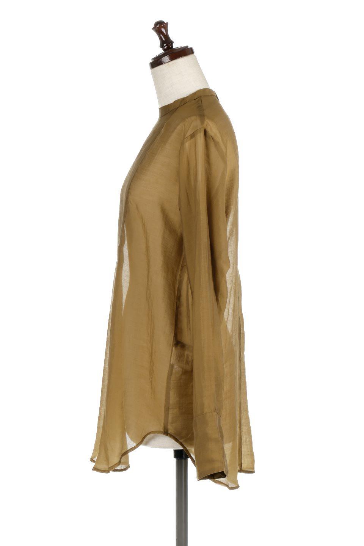 CottonPoplinBosomBlouseポプリン生地・ブザムブラウス大人カジュアルに最適な海外ファッションのothers(その他インポートアイテム)のトップスやシャツ・ブラウス。胸元の切り替えが特徴的な長袖のブザムブラウス。透け感が人気のポプリン素材を使用したのブラウスです。/main-7