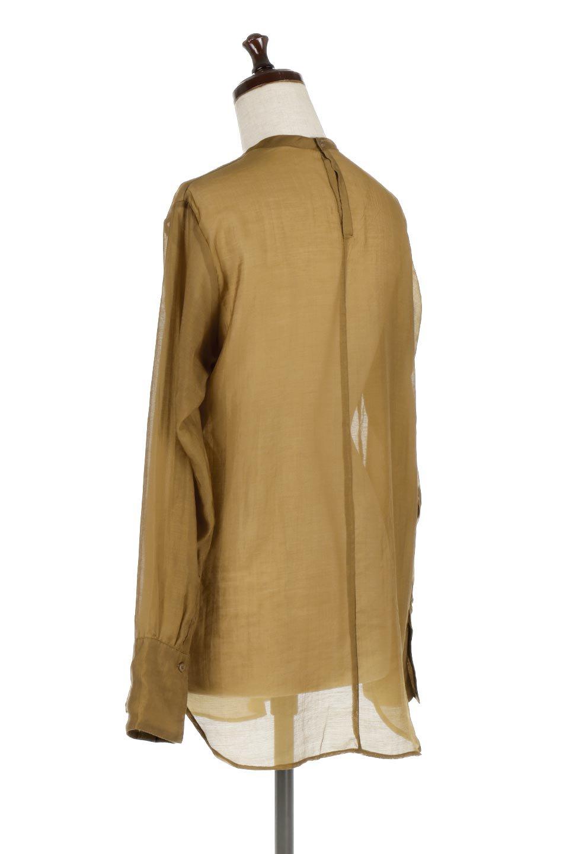 CottonPoplinBosomBlouseポプリン生地・ブザムブラウス大人カジュアルに最適な海外ファッションのothers(その他インポートアイテム)のトップスやシャツ・ブラウス。胸元の切り替えが特徴的な長袖のブザムブラウス。透け感が人気のポプリン素材を使用したのブラウスです。/main-8