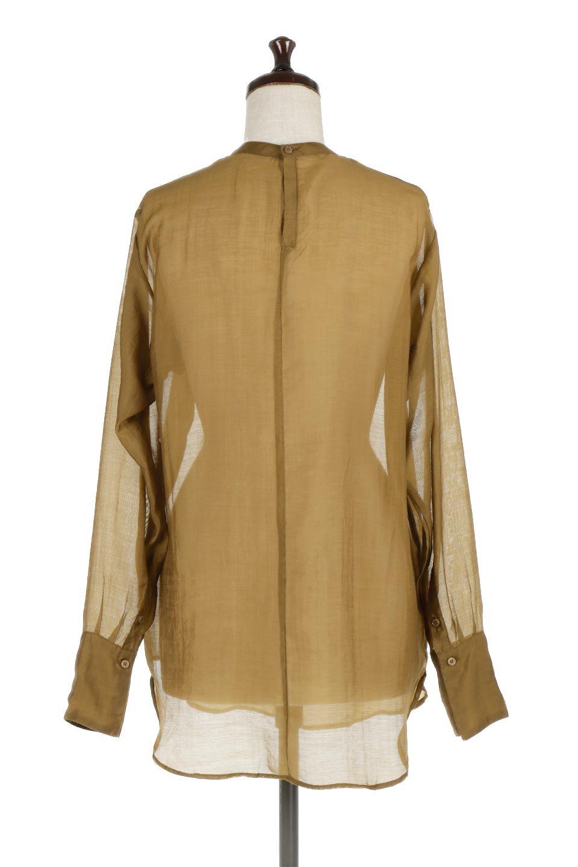 CottonPoplinBosomBlouseポプリン生地・ブザムブラウス大人カジュアルに最適な海外ファッションのothers(その他インポートアイテム)のトップスやシャツ・ブラウス。胸元の切り替えが特徴的な長袖のブザムブラウス。透け感が人気のポプリン素材を使用したのブラウスです。/main-9
