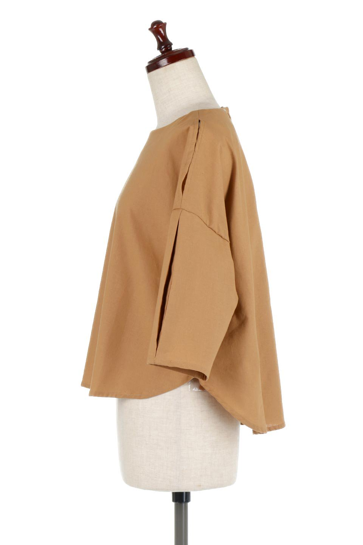 SlitShoulderBlouseスリットショルダー・7分袖ブラウス大人カジュアルに最適な海外ファッションのothers(その他インポートアイテム)のトップスやシャツ・ブラウス。肩のチラ見せがポイントの7分袖ブラウス。スリットとプリーツの袖が可愛い3シーズン活躍するアイテムです。/main-12