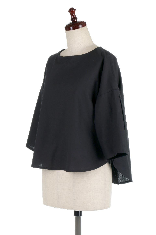 SlitShoulderBlouseスリットショルダー・7分袖ブラウス大人カジュアルに最適な海外ファッションのothers(その他インポートアイテム)のトップスやシャツ・ブラウス。肩のチラ見せがポイントの7分袖ブラウス。スリットとプリーツの袖が可愛い3シーズン活躍するアイテムです。/main-16