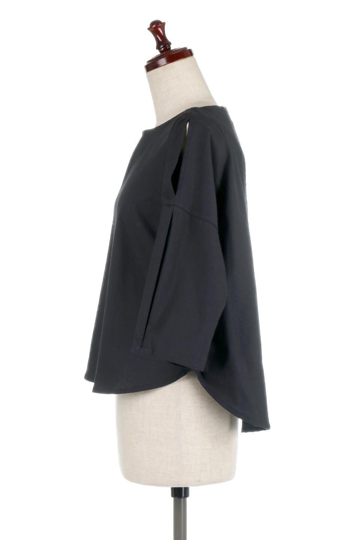 SlitShoulderBlouseスリットショルダー・7分袖ブラウス大人カジュアルに最適な海外ファッションのothers(その他インポートアイテム)のトップスやシャツ・ブラウス。肩のチラ見せがポイントの7分袖ブラウス。スリットとプリーツの袖が可愛い3シーズン活躍するアイテムです。/main-17