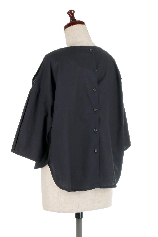 SlitShoulderBlouseスリットショルダー・7分袖ブラウス大人カジュアルに最適な海外ファッションのothers(その他インポートアイテム)のトップスやシャツ・ブラウス。肩のチラ見せがポイントの7分袖ブラウス。スリットとプリーツの袖が可愛い3シーズン活躍するアイテムです。/main-18