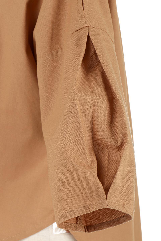 SlitShoulderBlouseスリットショルダー・7分袖ブラウス大人カジュアルに最適な海外ファッションのothers(その他インポートアイテム)のトップスやシャツ・ブラウス。肩のチラ見せがポイントの7分袖ブラウス。スリットとプリーツの袖が可愛い3シーズン活躍するアイテムです。/main-24