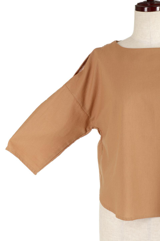 SlitShoulderBlouseスリットショルダー・7分袖ブラウス大人カジュアルに最適な海外ファッションのothers(その他インポートアイテム)のトップスやシャツ・ブラウス。肩のチラ見せがポイントの7分袖ブラウス。スリットとプリーツの袖が可愛い3シーズン活躍するアイテムです。/main-25
