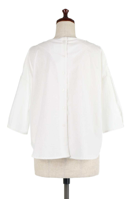 SlitShoulderBlouseスリットショルダー・7分袖ブラウス大人カジュアルに最適な海外ファッションのothers(その他インポートアイテム)のトップスやシャツ・ブラウス。肩のチラ見せがポイントの7分袖ブラウス。スリットとプリーツの袖が可愛い3シーズン活躍するアイテムです。/main-9