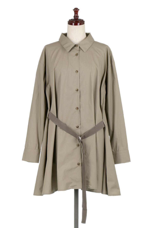 WaistTiedA-LineShirtsJacketベルト付き・ロングシャツジャケット大人カジュアルに最適な海外ファッションのothers(その他インポートアイテム)のトップスやシャツ・ブラウス。ウエストのリボンベルトがアクセントのシャツジャケット。綺麗なAラインが特徴で、コート風にも着こなせる便利アイテム。/main-10