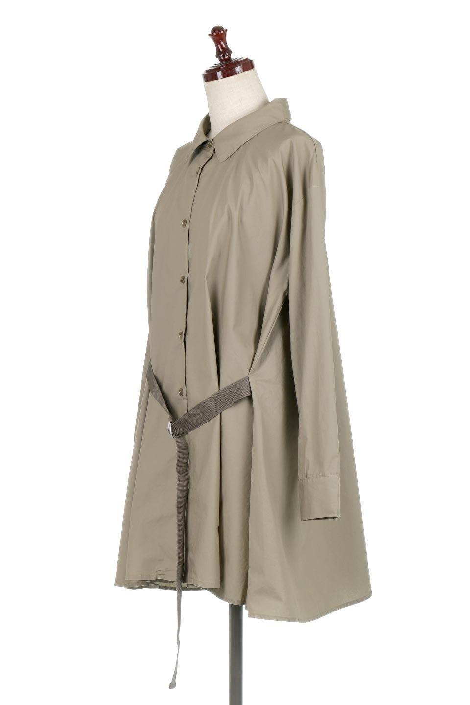 WaistTiedA-LineShirtsJacketベルト付き・ロングシャツジャケット大人カジュアルに最適な海外ファッションのothers(その他インポートアイテム)のトップスやシャツ・ブラウス。ウエストのリボンベルトがアクセントのシャツジャケット。綺麗なAラインが特徴で、コート風にも着こなせる便利アイテム。/main-11