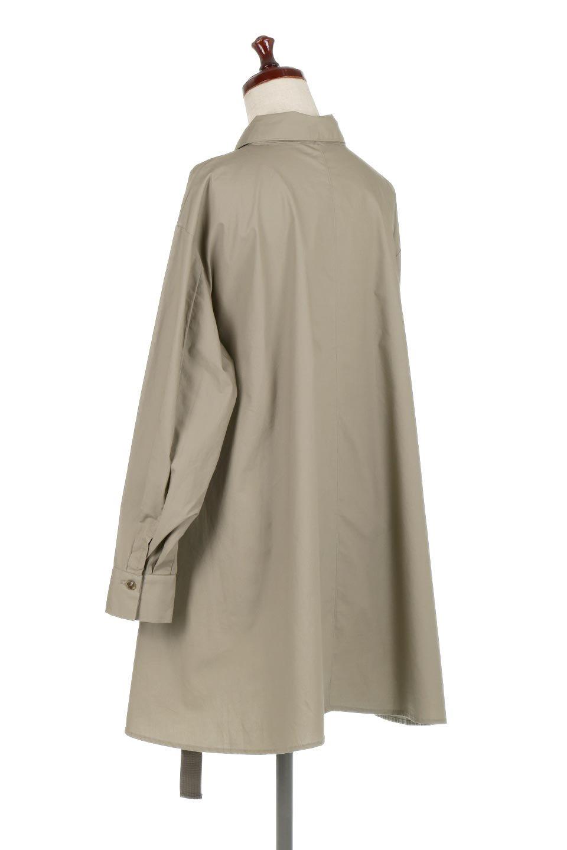 WaistTiedA-LineShirtsJacketベルト付き・ロングシャツジャケット大人カジュアルに最適な海外ファッションのothers(その他インポートアイテム)のトップスやシャツ・ブラウス。ウエストのリボンベルトがアクセントのシャツジャケット。綺麗なAラインが特徴で、コート風にも着こなせる便利アイテム。/main-13