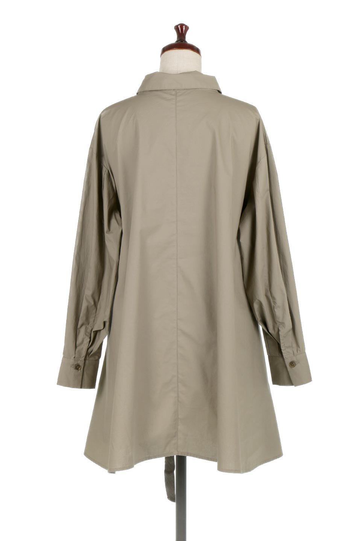 WaistTiedA-LineShirtsJacketベルト付き・ロングシャツジャケット大人カジュアルに最適な海外ファッションのothers(その他インポートアイテム)のトップスやシャツ・ブラウス。ウエストのリボンベルトがアクセントのシャツジャケット。綺麗なAラインが特徴で、コート風にも着こなせる便利アイテム。/main-14