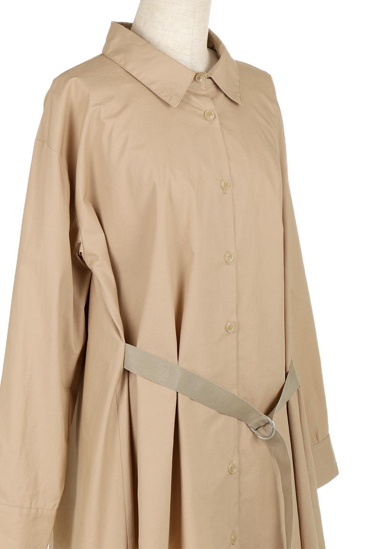 WaistTiedA-LineShirtsJacketベルト付き・ロングシャツジャケット大人カジュアルに最適な海外ファッションのothers(その他インポートアイテム)のトップスやシャツ・ブラウス。ウエストのリボンベルトがアクセントのシャツジャケット。綺麗なAラインが特徴で、コート風にも着こなせる便利アイテム。/main-15