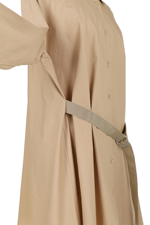 WaistTiedA-LineShirtsJacketベルト付き・ロングシャツジャケット大人カジュアルに最適な海外ファッションのothers(その他インポートアイテム)のトップスやシャツ・ブラウス。ウエストのリボンベルトがアクセントのシャツジャケット。綺麗なAラインが特徴で、コート風にも着こなせる便利アイテム。/main-18