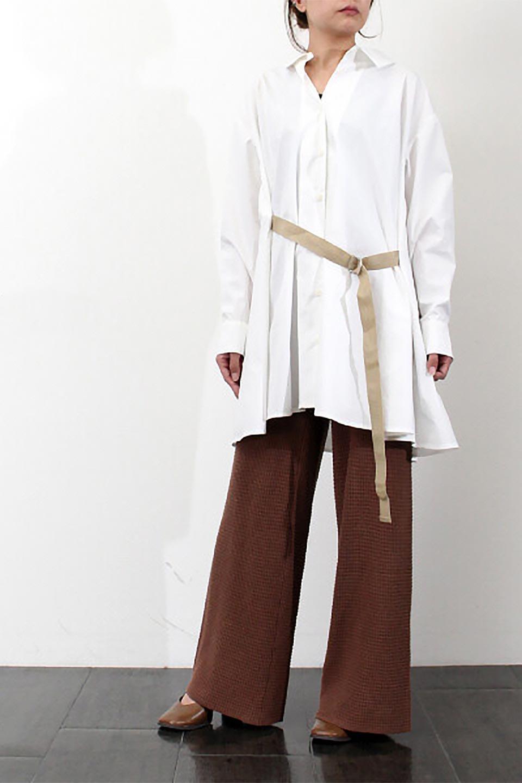WaistTiedA-LineShirtsJacketベルト付き・ロングシャツジャケット大人カジュアルに最適な海外ファッションのothers(その他インポートアイテム)のトップスやシャツ・ブラウス。ウエストのリボンベルトがアクセントのシャツジャケット。綺麗なAラインが特徴で、コート風にも着こなせる便利アイテム。/main-25
