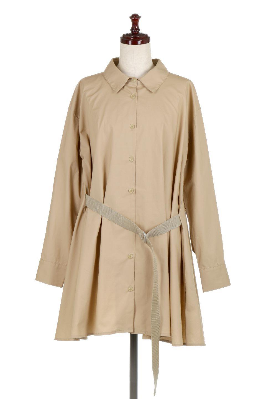 WaistTiedA-LineShirtsJacketベルト付き・ロングシャツジャケット大人カジュアルに最適な海外ファッションのothers(その他インポートアイテム)のトップスやシャツ・ブラウス。ウエストのリボンベルトがアクセントのシャツジャケット。綺麗なAラインが特徴で、コート風にも着こなせる便利アイテム。/main-5