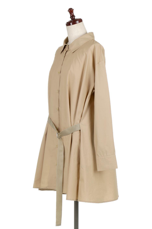 WaistTiedA-LineShirtsJacketベルト付き・ロングシャツジャケット大人カジュアルに最適な海外ファッションのothers(その他インポートアイテム)のトップスやシャツ・ブラウス。ウエストのリボンベルトがアクセントのシャツジャケット。綺麗なAラインが特徴で、コート風にも着こなせる便利アイテム。/main-6