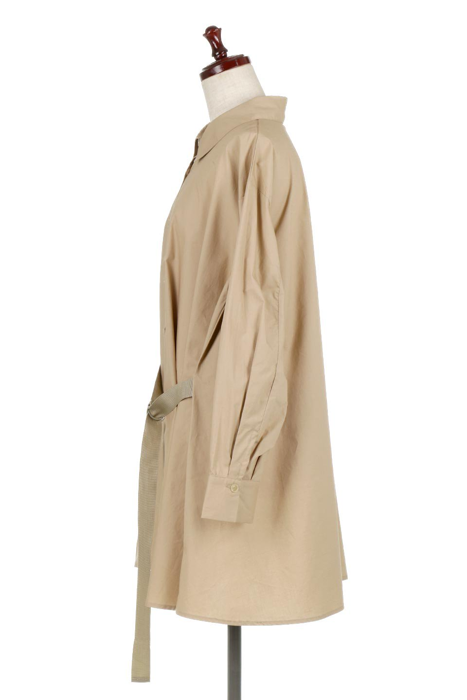 WaistTiedA-LineShirtsJacketベルト付き・ロングシャツジャケット大人カジュアルに最適な海外ファッションのothers(その他インポートアイテム)のトップスやシャツ・ブラウス。ウエストのリボンベルトがアクセントのシャツジャケット。綺麗なAラインが特徴で、コート風にも着こなせる便利アイテム。/main-7