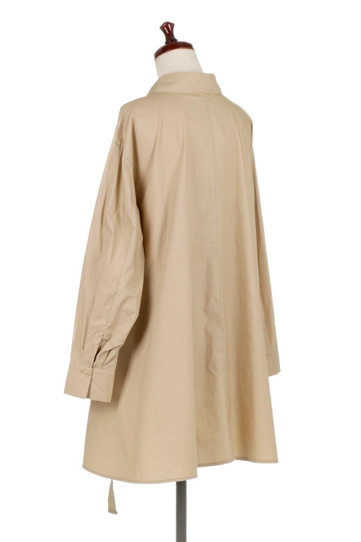 WaistTiedA-LineShirtsJacketベルト付き・ロングシャツジャケット大人カジュアルに最適な海外ファッションのothers(その他インポートアイテム)のトップスやシャツ・ブラウス。ウエストのリボンベルトがアクセントのシャツジャケット。綺麗なAラインが特徴で、コート風にも着こなせる便利アイテム。/main-8