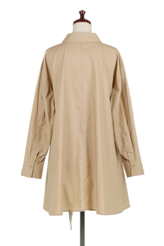 WaistTiedA-LineShirtsJacketベルト付き・ロングシャツジャケット大人カジュアルに最適な海外ファッションのothers(その他インポートアイテム)のトップスやシャツ・ブラウス。ウエストのリボンベルトがアクセントのシャツジャケット。綺麗なAラインが特徴で、コート風にも着こなせる便利アイテム。/main-9