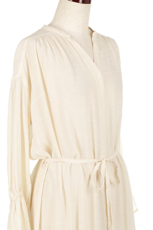 SlabGauzeSheeredShirtsDressスラブガーゼ・シャツワンピース大人カジュアルに最適な海外ファッションのothers(その他インポートアイテム)のトップスやシャツ・ブラウス。キャンディースリーブが可愛いロング丈のシャツワンピース。レーヨンスラブガーゼを使用して透け感のあるアイテムです。/main-10