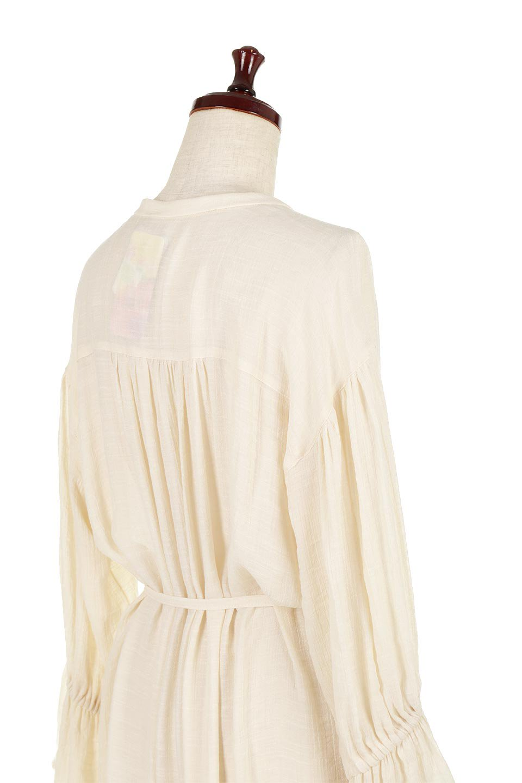 SlabGauzeSheeredShirtsDressスラブガーゼ・シャツワンピース大人カジュアルに最適な海外ファッションのothers(その他インポートアイテム)のトップスやシャツ・ブラウス。キャンディースリーブが可愛いロング丈のシャツワンピース。レーヨンスラブガーゼを使用して透け感のあるアイテムです。/main-11