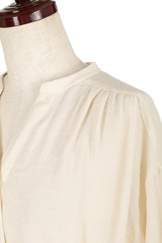 SlabGauzeSheeredShirtsDressスラブガーゼ・シャツワンピース大人カジュアルに最適な海外ファッションのothers(その他インポートアイテム)のトップスやシャツ・ブラウス。キャンディースリーブが可愛いロング丈のシャツワンピース。レーヨンスラブガーゼを使用して透け感のあるアイテムです。/main-12