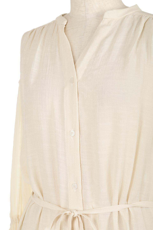 SlabGauzeSheeredShirtsDressスラブガーゼ・シャツワンピース大人カジュアルに最適な海外ファッションのothers(その他インポートアイテム)のトップスやシャツ・ブラウス。キャンディースリーブが可愛いロング丈のシャツワンピース。レーヨンスラブガーゼを使用して透け感のあるアイテムです。/main-13