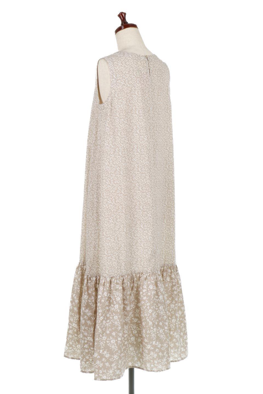 FloralPrintedPanelDress小花柄・切替えロングワンピース大人カジュアルに最適な海外ファッションのothers(その他インポートアイテム)のワンピースやマキシワンピース。2種類の花柄の切り替えが可愛いノースリーブのマキシワンピース。人気のノースリーブマキシに人気の花柄プリント。/main-8