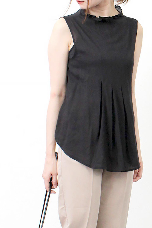 SleevelessPeplumBlouseノースリーブ・ペプラムブラウス大人カジュアルに最適な海外ファッションのothers(その他インポートアイテム)のワンピースやマキシワンピース。ペプラムシルエットが美しいノースリーブブラウス。ボトムを選ばないデザインで着回しやすさ抜群のブラウス。/main-23