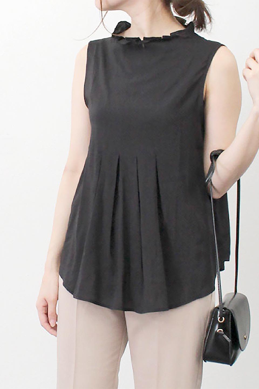 SleevelessPeplumBlouseノースリーブ・ペプラムブラウス大人カジュアルに最適な海外ファッションのothers(その他インポートアイテム)のワンピースやマキシワンピース。ペプラムシルエットが美しいノースリーブブラウス。ボトムを選ばないデザインで着回しやすさ抜群のブラウス。/main-26