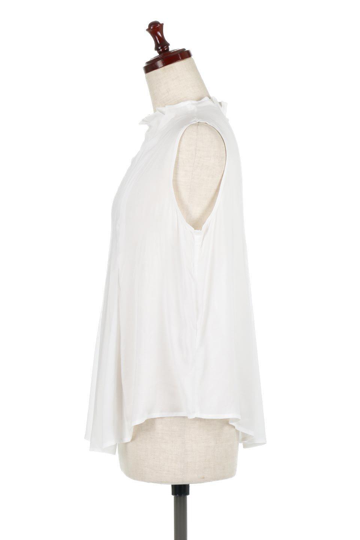 SleevelessPeplumBlouseノースリーブ・ペプラムブラウス大人カジュアルに最適な海外ファッションのothers(その他インポートアイテム)のワンピースやマキシワンピース。ペプラムシルエットが美しいノースリーブブラウス。ボトムを選ばないデザインで着回しやすさ抜群のブラウス。/main-7