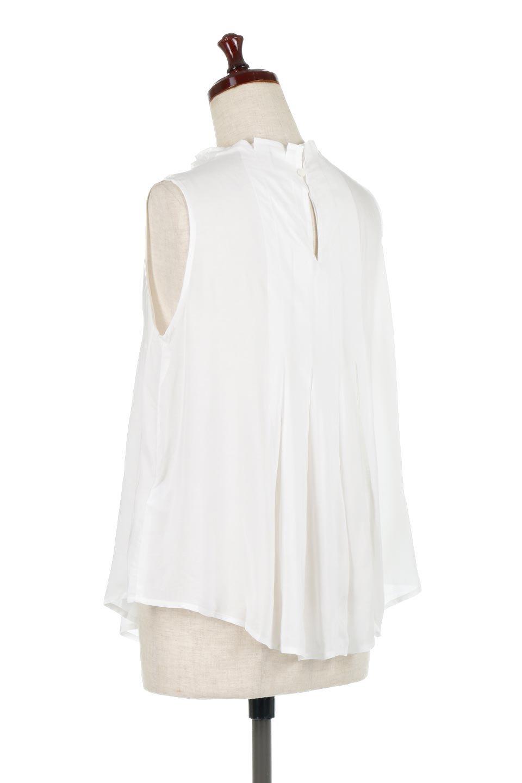 SleevelessPeplumBlouseノースリーブ・ペプラムブラウス大人カジュアルに最適な海外ファッションのothers(その他インポートアイテム)のワンピースやマキシワンピース。ペプラムシルエットが美しいノースリーブブラウス。ボトムを選ばないデザインで着回しやすさ抜群のブラウス。/main-8