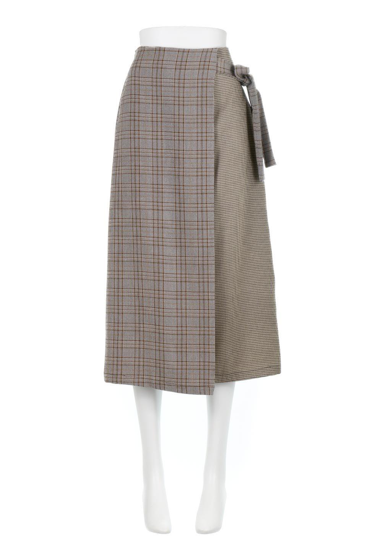 GlenCheckPaneledSkirtグレンチェック・切り替えスカート大人カジュアルに最適な海外ファッションのothers(その他インポートアイテム)のボトムやスカート。グレンチェックの切り替えが可愛いミディ丈スカート。2種類のチェックのコンビネーションで秋冬のコーディネートを楽しくしてくれます。/main-10