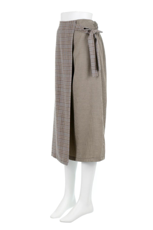 GlenCheckPaneledSkirtグレンチェック・切り替えスカート大人カジュアルに最適な海外ファッションのothers(その他インポートアイテム)のボトムやスカート。グレンチェックの切り替えが可愛いミディ丈スカート。2種類のチェックのコンビネーションで秋冬のコーディネートを楽しくしてくれます。/main-11