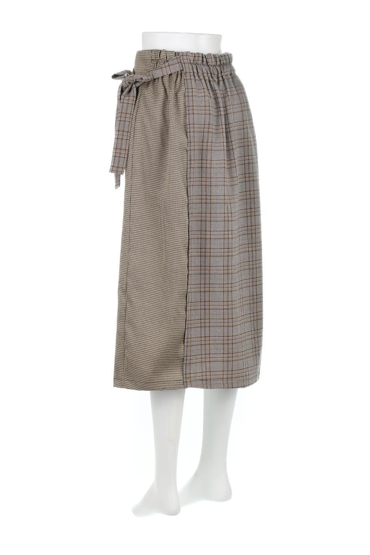 GlenCheckPaneledSkirtグレンチェック・切り替えスカート大人カジュアルに最適な海外ファッションのothers(その他インポートアイテム)のボトムやスカート。グレンチェックの切り替えが可愛いミディ丈スカート。2種類のチェックのコンビネーションで秋冬のコーディネートを楽しくしてくれます。/main-13