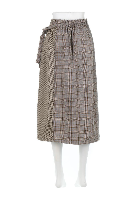GlenCheckPaneledSkirtグレンチェック・切り替えスカート大人カジュアルに最適な海外ファッションのothers(その他インポートアイテム)のボトムやスカート。グレンチェックの切り替えが可愛いミディ丈スカート。2種類のチェックのコンビネーションで秋冬のコーディネートを楽しくしてくれます。/main-14