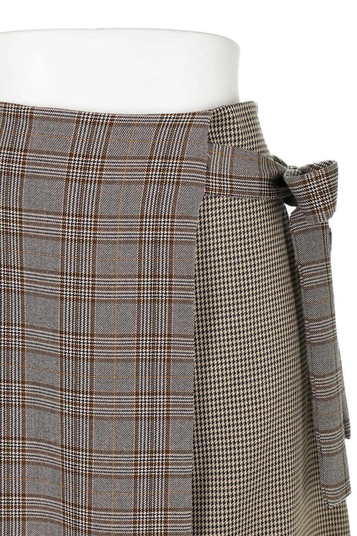 GlenCheckPaneledSkirtグレンチェック・切り替えスカート大人カジュアルに最適な海外ファッションのothers(その他インポートアイテム)のボトムやスカート。グレンチェックの切り替えが可愛いミディ丈スカート。2種類のチェックのコンビネーションで秋冬のコーディネートを楽しくしてくれます。/main-19