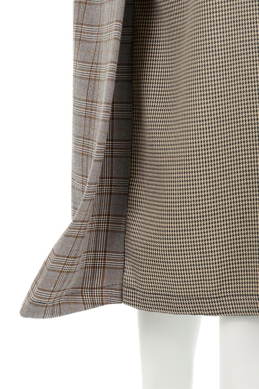 GlenCheckPaneledSkirtグレンチェック・切り替えスカート大人カジュアルに最適な海外ファッションのothers(その他インポートアイテム)のボトムやスカート。グレンチェックの切り替えが可愛いミディ丈スカート。2種類のチェックのコンビネーションで秋冬のコーディネートを楽しくしてくれます。/main-21