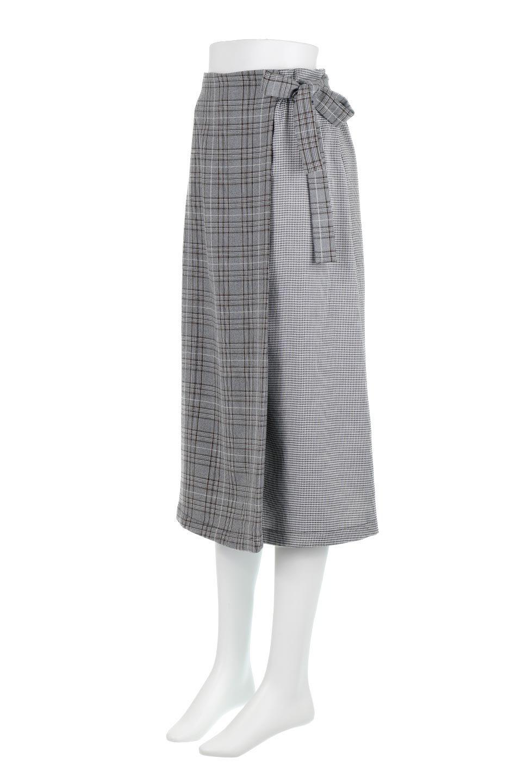 GlenCheckPaneledSkirtグレンチェック・切り替えスカート大人カジュアルに最適な海外ファッションのothers(その他インポートアイテム)のボトムやスカート。グレンチェックの切り替えが可愛いミディ丈スカート。2種類のチェックのコンビネーションで秋冬のコーディネートを楽しくしてくれます。/main-6