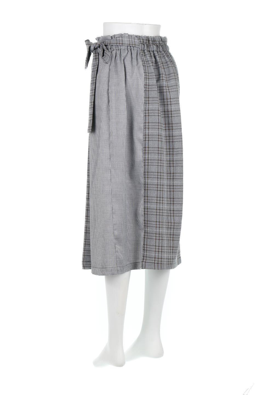 GlenCheckPaneledSkirtグレンチェック・切り替えスカート大人カジュアルに最適な海外ファッションのothers(その他インポートアイテム)のボトムやスカート。グレンチェックの切り替えが可愛いミディ丈スカート。2種類のチェックのコンビネーションで秋冬のコーディネートを楽しくしてくれます。/main-8