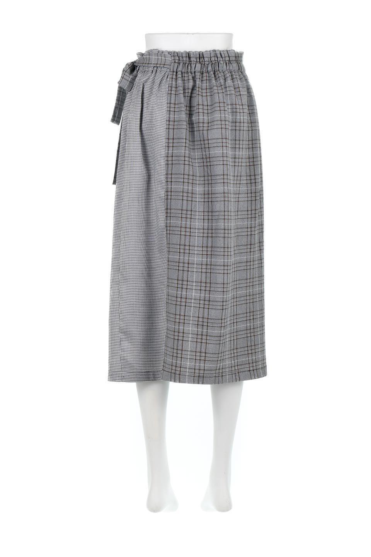 GlenCheckPaneledSkirtグレンチェック・切り替えスカート大人カジュアルに最適な海外ファッションのothers(その他インポートアイテム)のボトムやスカート。グレンチェックの切り替えが可愛いミディ丈スカート。2種類のチェックのコンビネーションで秋冬のコーディネートを楽しくしてくれます。/main-9