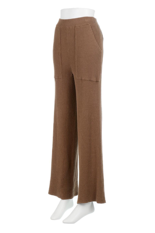 WideLegWafflePantsワッフル地・ワイドパンツ大人カジュアルに最適な海外ファッションのothers(その他インポートアイテム)のボトムやパンツ。ざっくり素材のワッフル地が最高に気持ち良いワイドパンツ。これ、すでに店頭では大人気の商品です。/main-16