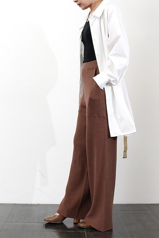 WideLegWafflePantsワッフル地・ワイドパンツ大人カジュアルに最適な海外ファッションのothers(その他インポートアイテム)のボトムやパンツ。ざっくり素材のワッフル地が最高に気持ち良いワイドパンツ。これ、すでに店頭では大人気の商品です。/main-32