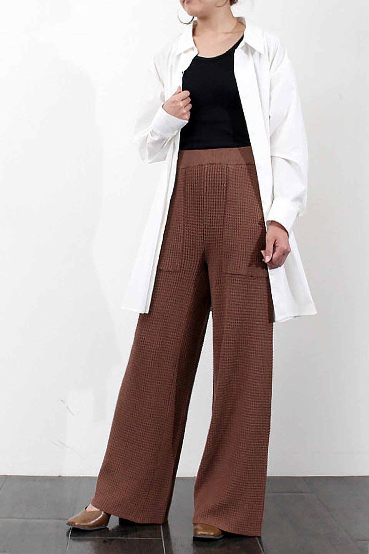 WideLegWafflePantsワッフル地・ワイドパンツ大人カジュアルに最適な海外ファッションのothers(その他インポートアイテム)のボトムやパンツ。ざっくり素材のワッフル地が最高に気持ち良いワイドパンツ。これ、すでに店頭では大人気の商品です。/main-33
